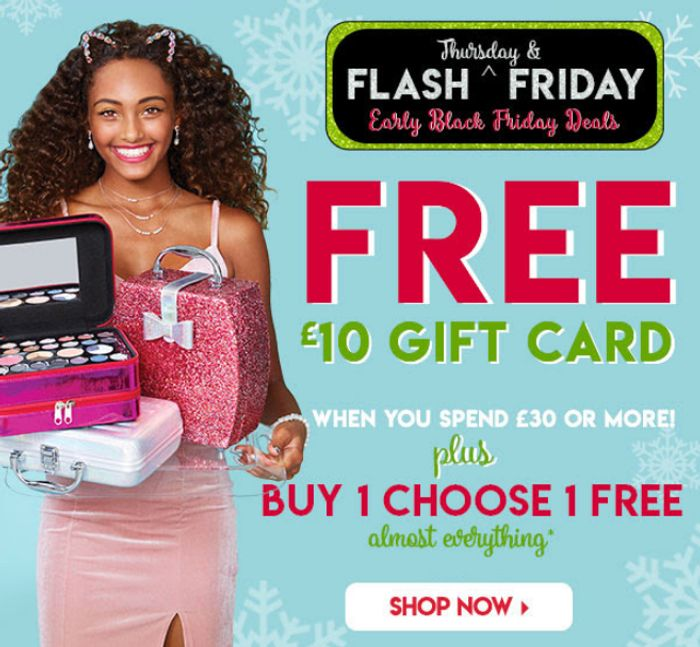 Claire's Early Black Friday £10 off When You Spend £30 + BOGOF