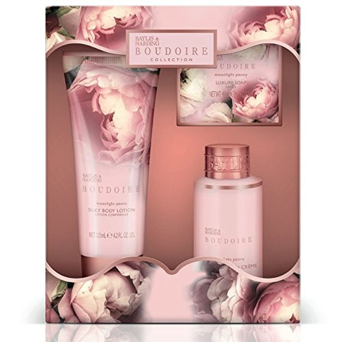 Baylis & Harding Trio of Treats, Boudoire Collection, Moonlight Peony