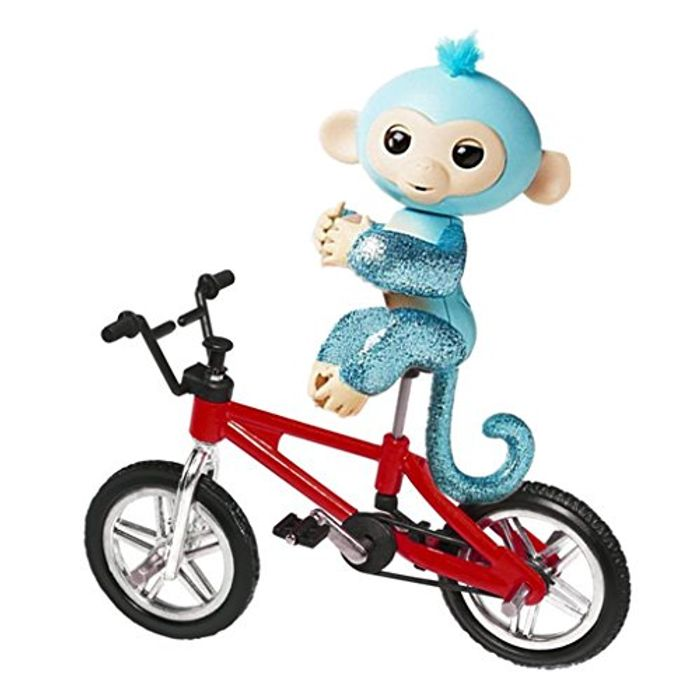 Dairyshop Finger Monkey Bike,Baby Monkey Climbing Stand Cycling Bicycle (Red)