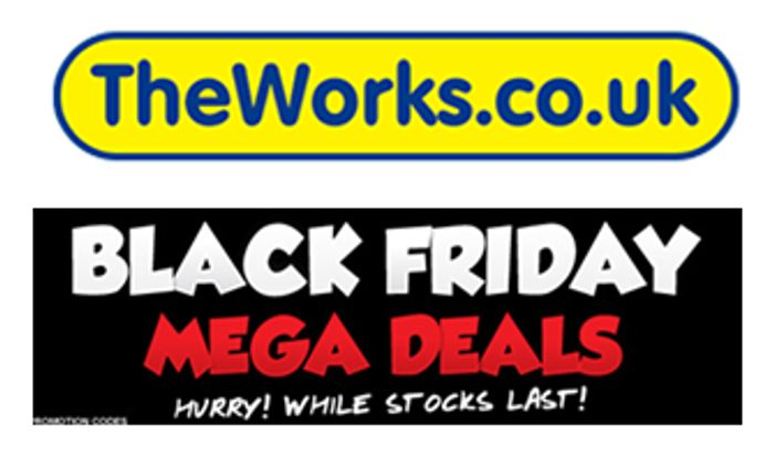 The Works BLACK FRIDAY MEGA DEALS on BOOKS, GIFTS, TOYS & GAMES!