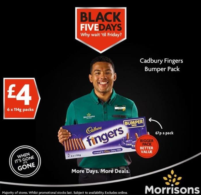 Cadburys 6 X114g Chocolate Fingers £4