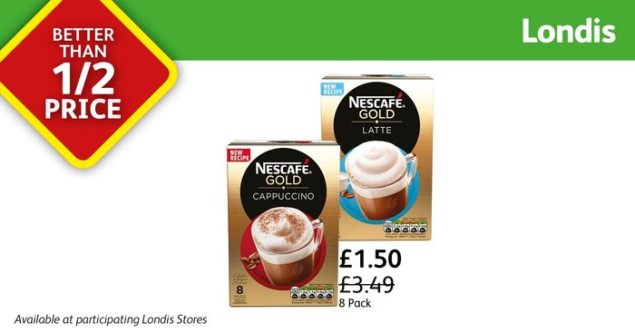Nescafegold 8pack Now Better than 1/2 Price