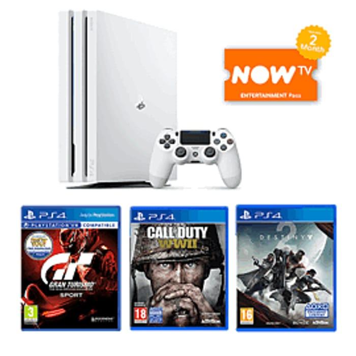 Glacier White PlayStation 4 Pro 1TB Bundle