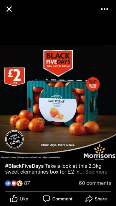Morrisons Sweetclems 2.3kg