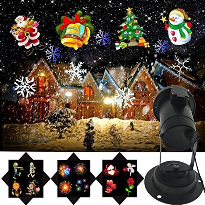 Christmas Projector Lights with 16 Patterns Slide