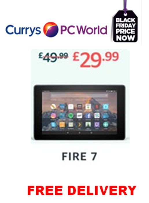 AMAZON Fire 7 Tablet with Alexa 8GB. PRICE DROP! £20 off + FREE DELIVERY