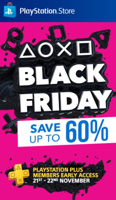 Up to 60% off Playstation Store Black Friday Sale