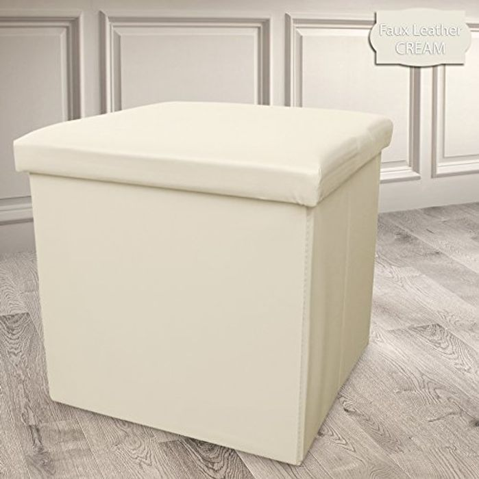 Off White Single Ottoman FREE DELIVERY
