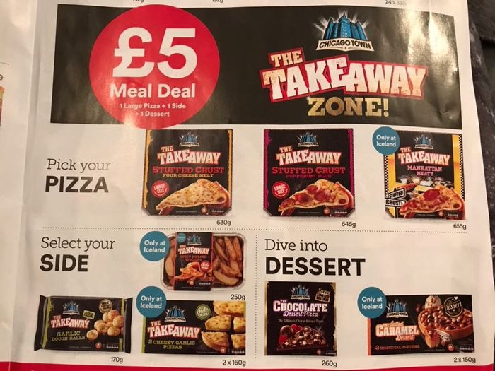 Chicago Town £5 Meal Deal