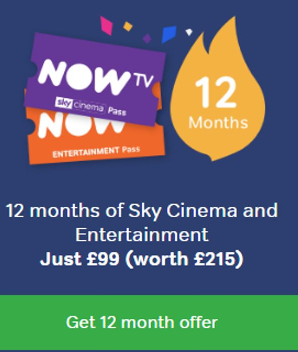 12 Months of Sky Cinema and Entertainment Just £99 (Worth £215)