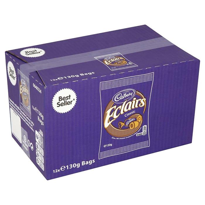 Cadbury Chocolate Eclairs, 12 X 130g Bags