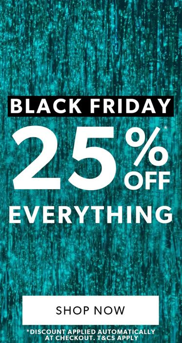 25% off EVERYTHING for Black Friday at New Look