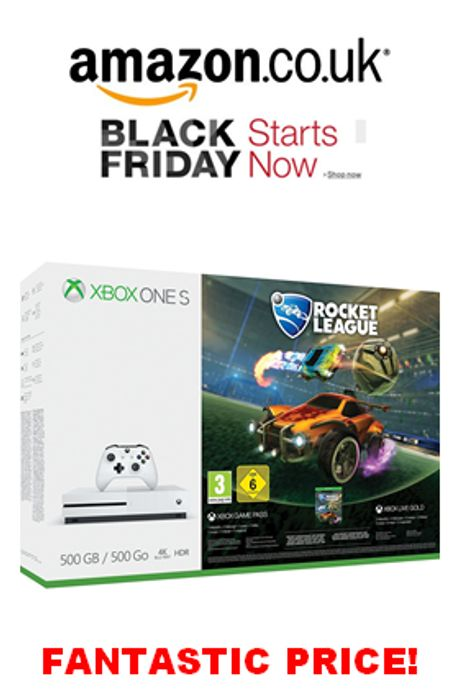 Xbox One S 500GB Console - Rocket League Blast-off Bundle