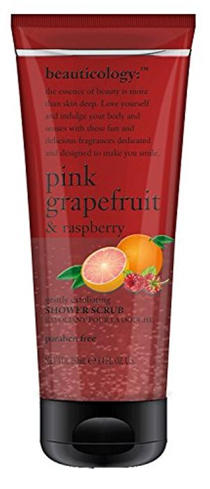 Pack of 4 Baylis & Harding Pink Grapefruit and Raspberry Shower Scrub, 250 Ml