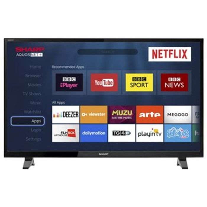 "40"" Smart Sharp Tv - LED/HD with Freeview Play"