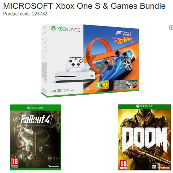 SAVE £80 Xbox One S & Games Bundle
