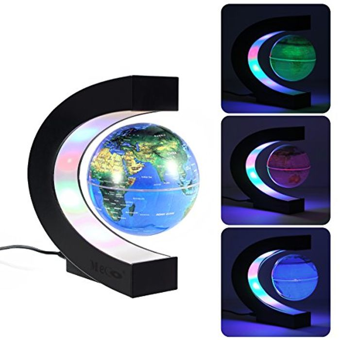 Magnetic Floating Globe with Colored LED