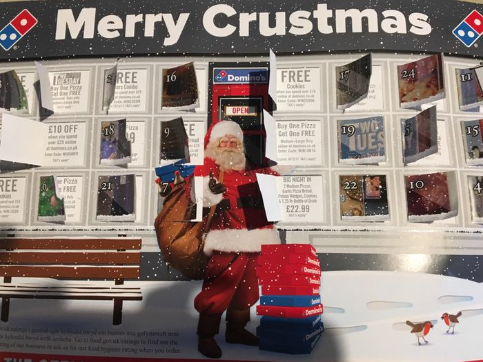 Dominos: Merry Crustmas Advent Calender of Codes