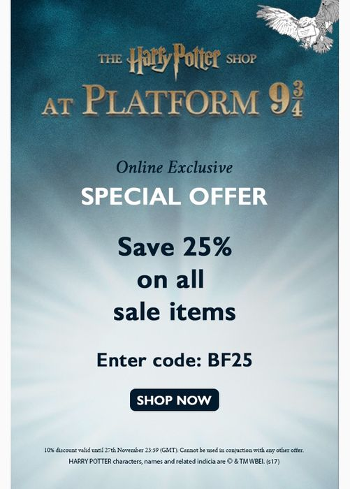 25% off All Sale Items Enter BF25 at Checkout