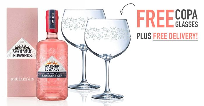2 X Free Glasses with a Purchase of Rhubarb Gin