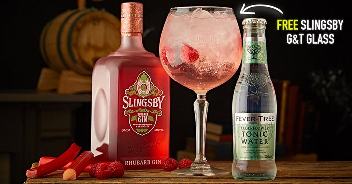 Every Purchase of Slingsby Rhubarb Gin, Recieve a FREE Copa Glass!