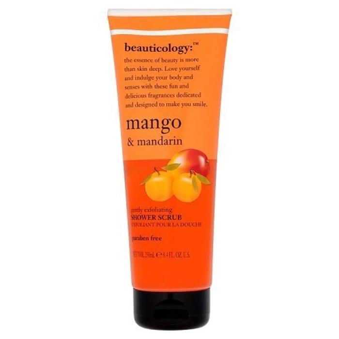 Baylis & Harding Beauticology Mango and Mandarin Shower Scrub, 250 Ml, Pack of 4