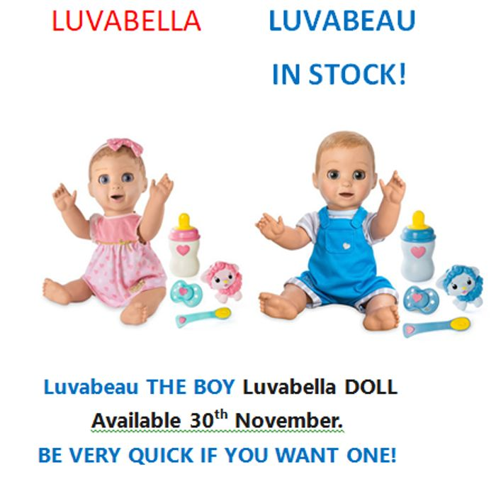Luvabeau BOY LUVABELLA DOLL - Available NOW. HE'S HERE AT LAST!