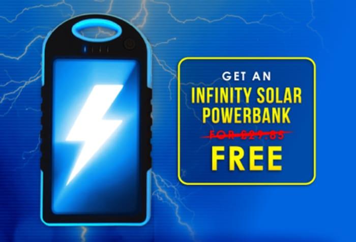 Infinity Solar Powerbank 6.99 delivery