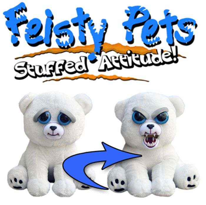 Feisty Pets - Karl the Snarl - Polar Bear Plush
