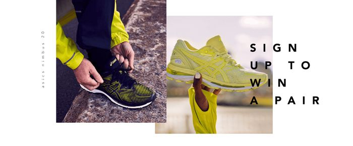 Sign up to Win a Pair of ASICS Gel-Nimbus 20 Running Shoes