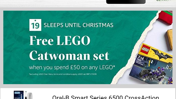 Free Lego Cat Woman Set When You Spend £50 on Lego Amazon