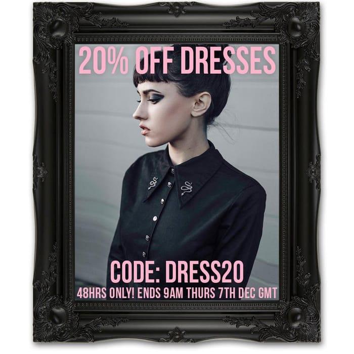 20% off Dresses at Disturbia