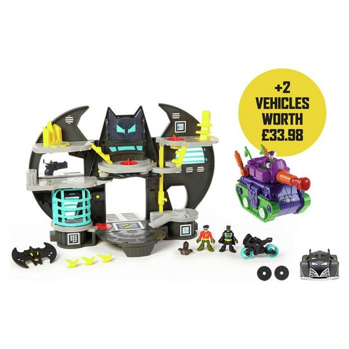 Fisher-Price Imaginext DC Super Friends Batcave Gift Set *With Free Vechiles*