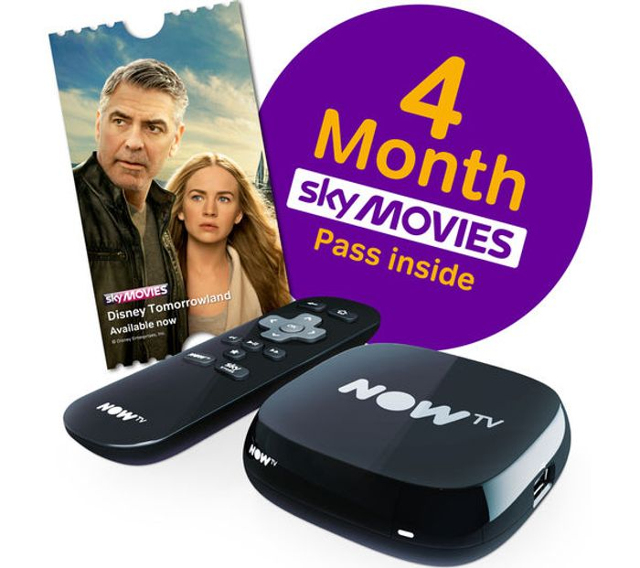 NOW TV Box with 4 Month Sky Movies Pass Free C&C, £19 97 at