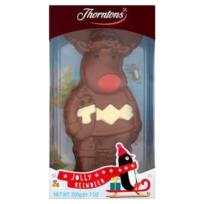 Thorntons Jolly Reindeer Chocolate Bar 200g 3 At Superdrug