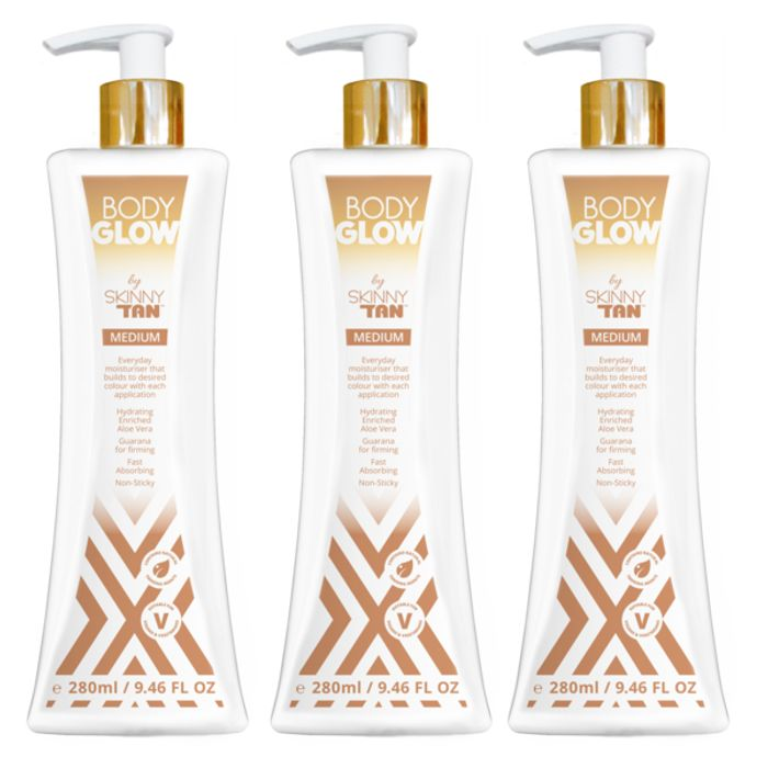 NEW Body Glow Moisturiser by Skinny Tan- 3 for £15