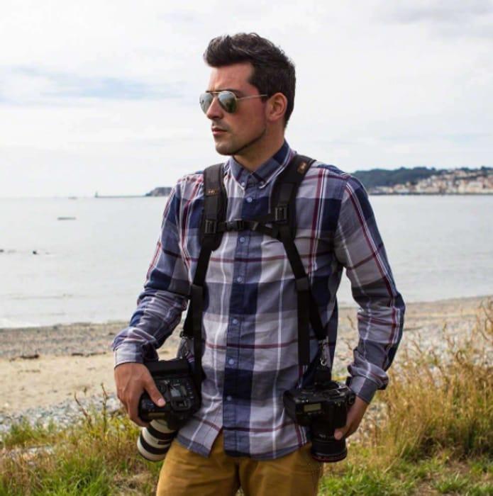 EvoDX Pro-Quick Double Camera Shoulder & Chest Harness DSLR, SLR Video Camera.