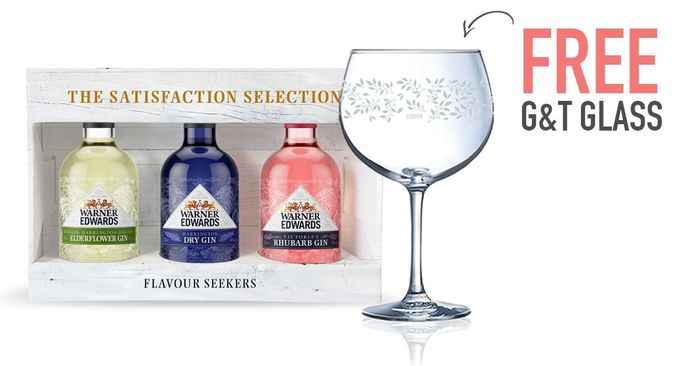 Get a FREE Balloon G&T Glass with This Selection of Warner Edwards Gin.