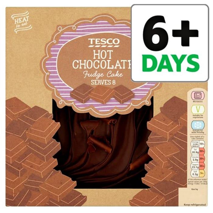 Tesco Hot Chocolate Fudge Cake 700g 275 Latestdealscouk