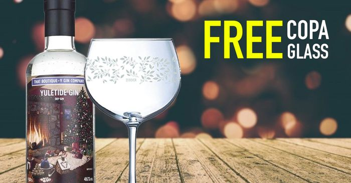 Free Copa Glass with Every Purchase ofYuletide Gin