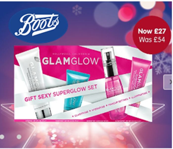 BOOTS Star Gift - 1/2 Price on Glamglow Superglow Set