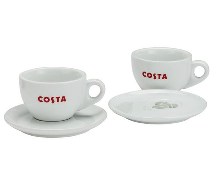 33e7d04db2d Costa Cup and Saucer Duo Set ARGOS, £4.99 | LatestDeals.co.uk