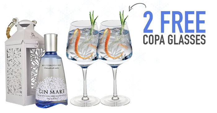 2 X FREE Balloon G&T Glasses When You Purchase Gin Mare
