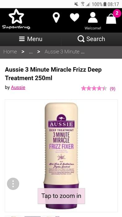 Aussie 3 Minute Miracle Frizz Deep Treatment 250ml