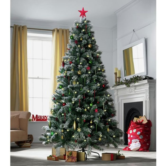 buy popular 58f47 75251 Heart of House 7ft Pre-Lit Snow Tipped Christmas Tree Free ...