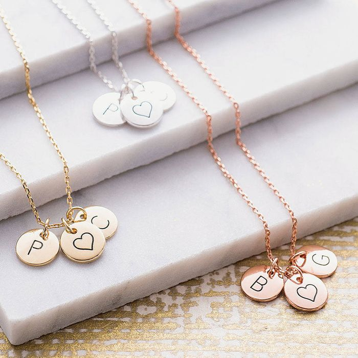 Personalised Triple Disc Necklace Half Price at www.notonthehighstreet.com