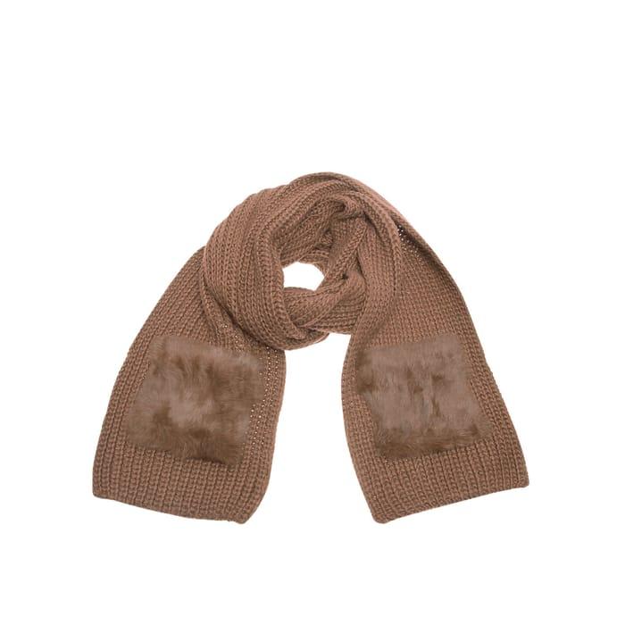 Fur Knitted 2 Pocket Scarf, Kurt Geiger London