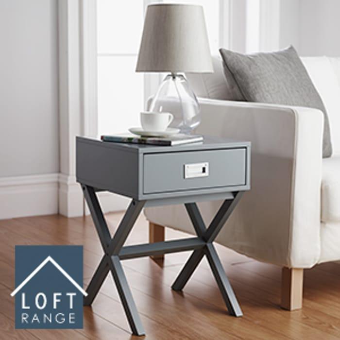 Loft Range Grey Finish Side Table