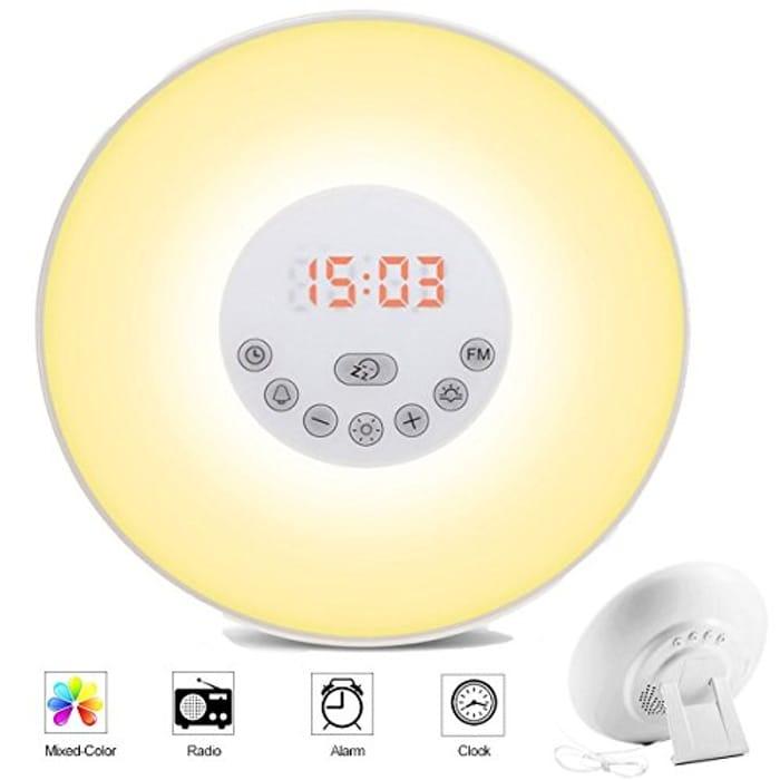 Wake up Light Sunrise Alarm Clock, Sunset Simulator Night Light, Touch Control