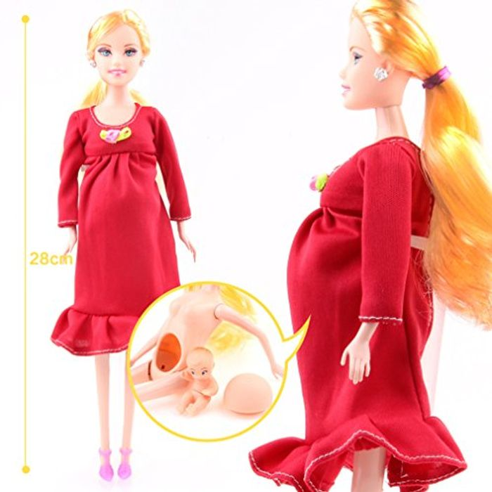 Not a Deal but I Giggled Pregnant Barbie